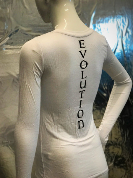 Evolution White Long Sleeve