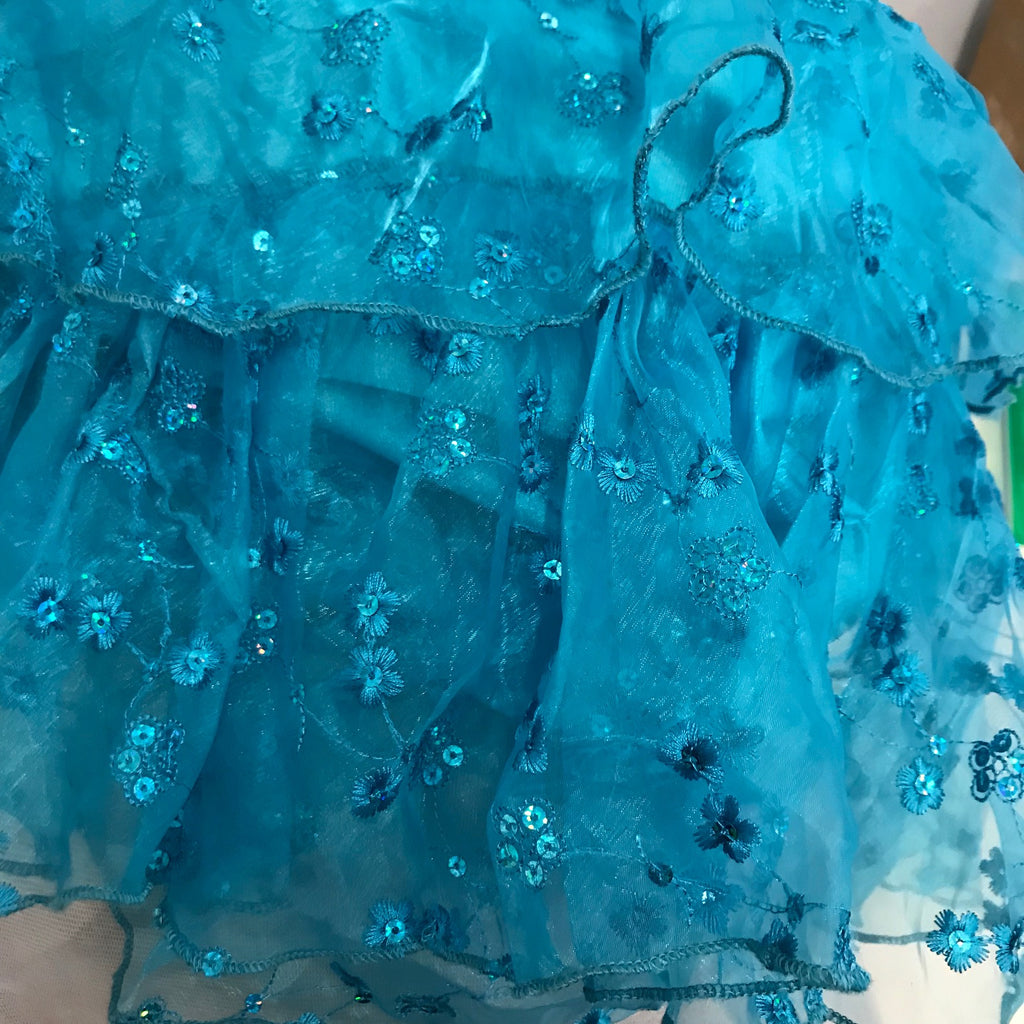 Light Blue Skirt Ruffles