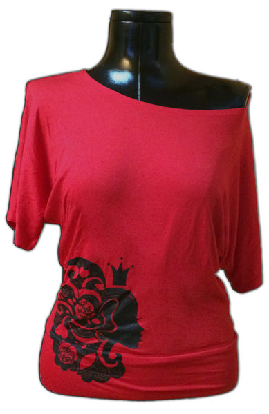Queen of Hearts - Off the Shoulder Shirt