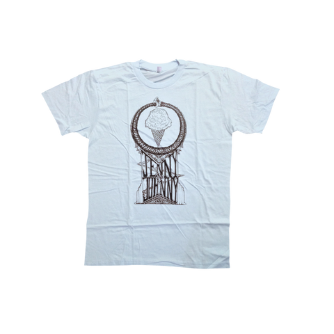 Jenny and Johnny Snake and Ice Cream Unisex Tee - Jenny Lewis Store