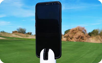 golf recording holder for iphone