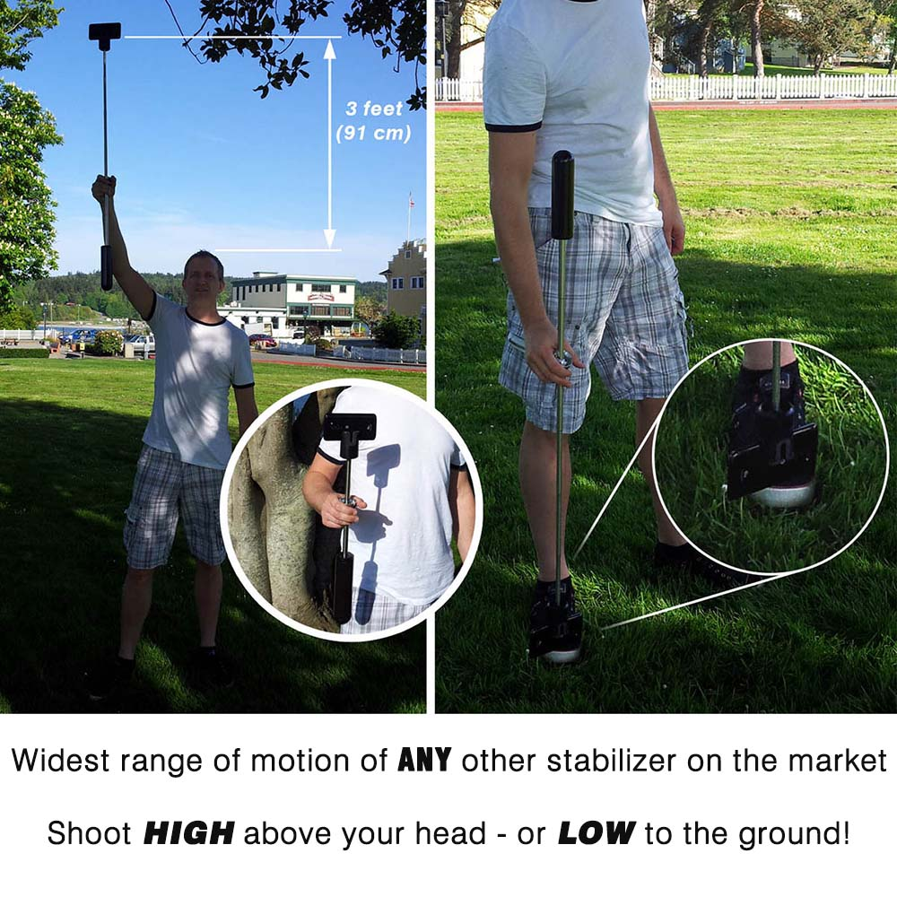 StayblCam Camera Stabilizer for GoPro, iPhone,and more