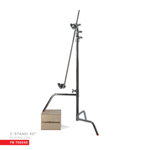 "40"" C-Stand w/Sliding Leg, Includes Grip Head & Arm"