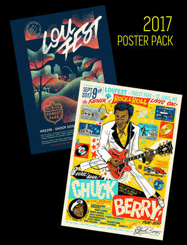 BETTER TOGETHER! 2017 Signed Commemorative Rye-Jol LouFest Lineup Poster AND the Hail! Hail! Chuck Berry! 2017 Signed Commemorative Poster!