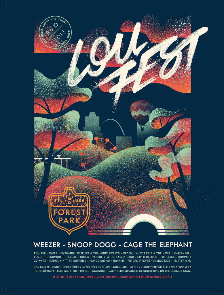 2017 Signed Commemorative LouFest Lineup Poster