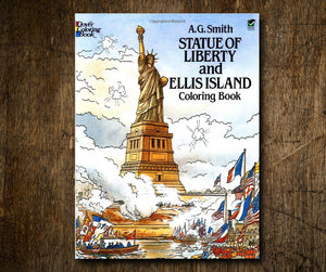 Book - Statue of Liberty and Ellis Island Coloring Book