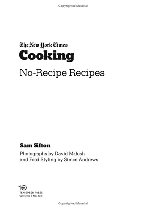 Book - The New York Time Cooking No-Recipe Recipes