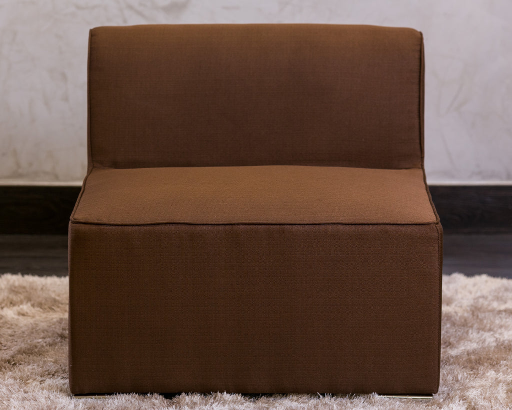 "30""W x 28""H Unique Single Sofa - Brown - Casa Febus - Home • Design"
