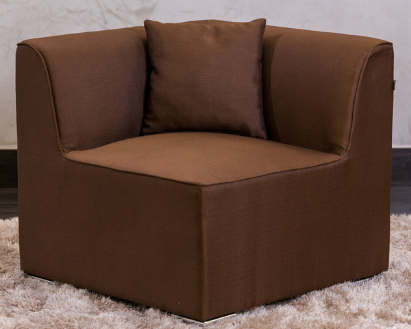 "30""W x 28""H Unique Corner Sofa - Brown - Casa Febus - Home • Design"