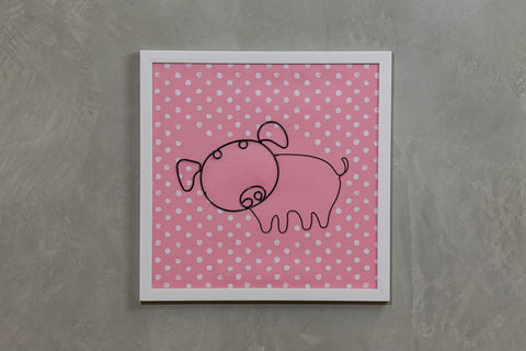 "Pink Pig Wall Decor 16"" x 16"" - Casa Febus - Home • Design"