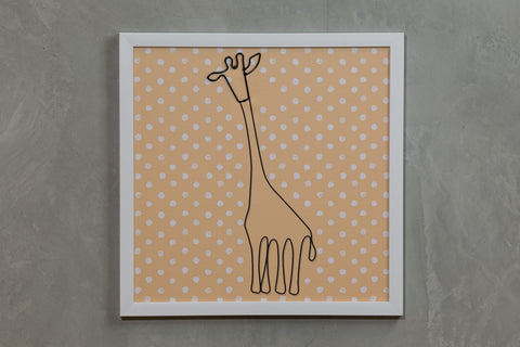 "Yellow Giraffe Wall Décor 16"" x 16"" - Casa Febus - Home • Design"