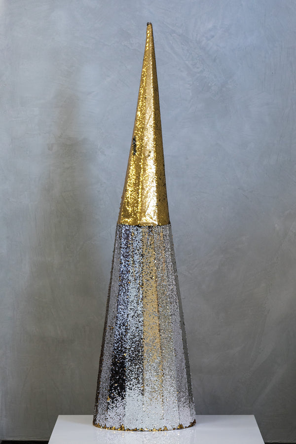 "71"" Reversible Sequin Tree - Gold & Silver"