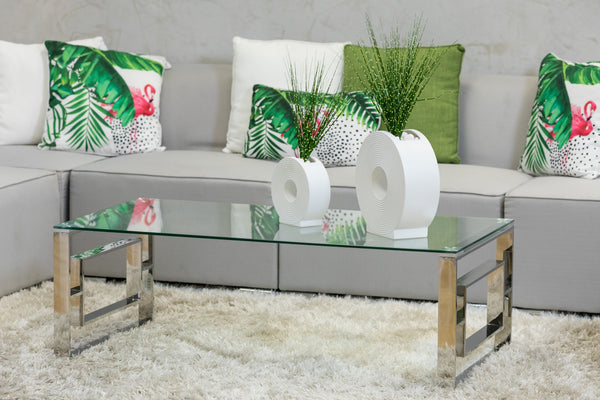 "47"" x 24""  Quadro Coffee Table - Miraggio Collection"
