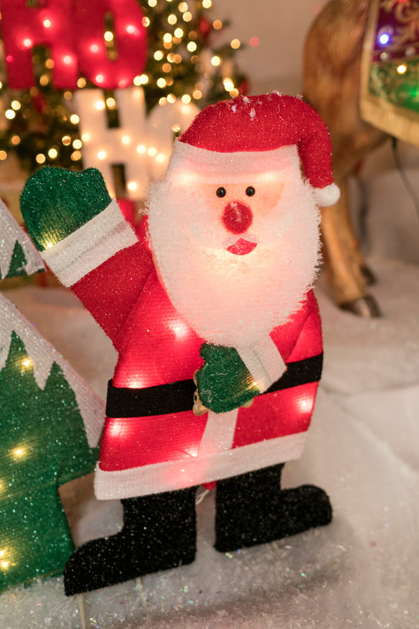 "24"" Santa Outdoor Decor with 20 Lights"