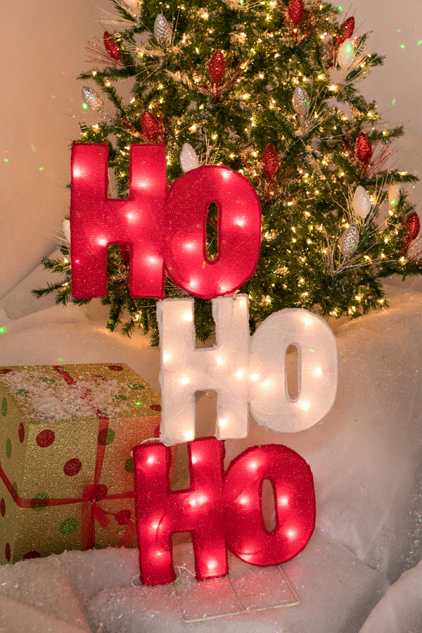 "35"" Ho Ho Ho Outdoor sign with 35 Lights"