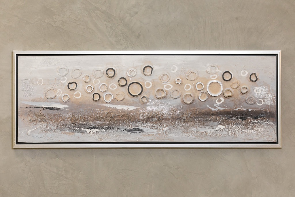 "49"" x 18"" Circles A Wall Decor"