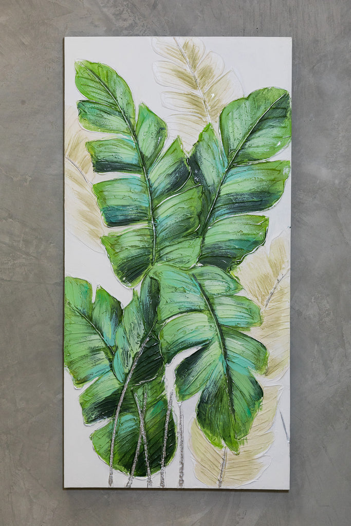 "49"" x 25"" Banana Leaves B Wall Decor"