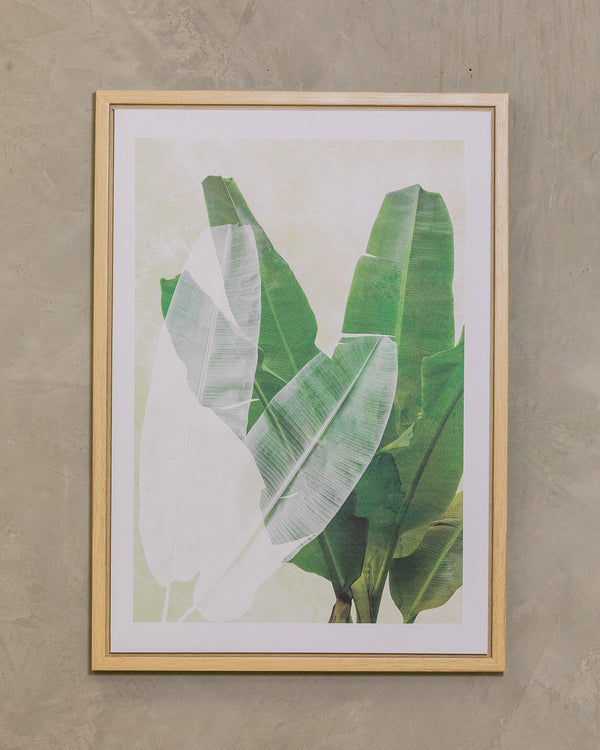 "20"" x 28"" Banana Leaves - Naturale Wall Decor"