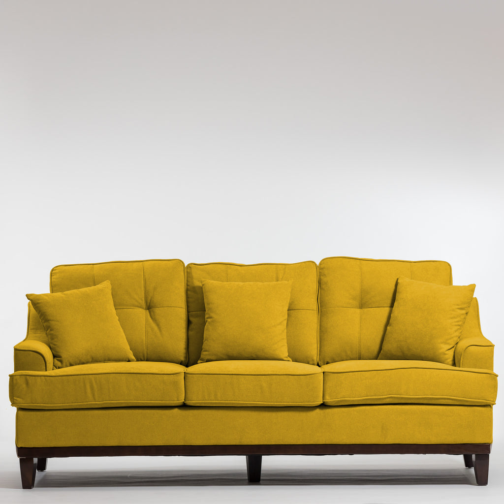 Lauren Elegant Sofa-Dijon Yellow