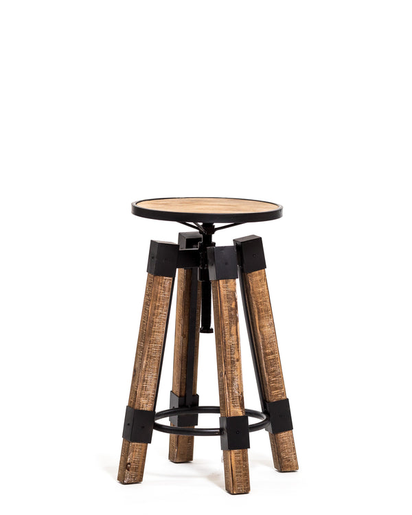 Adjustable Wood/Metal Chair Stool-Artessa Collection