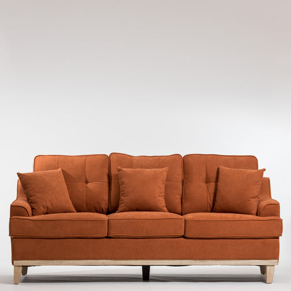 Lauren Elegant Sofa-Toasted Orange