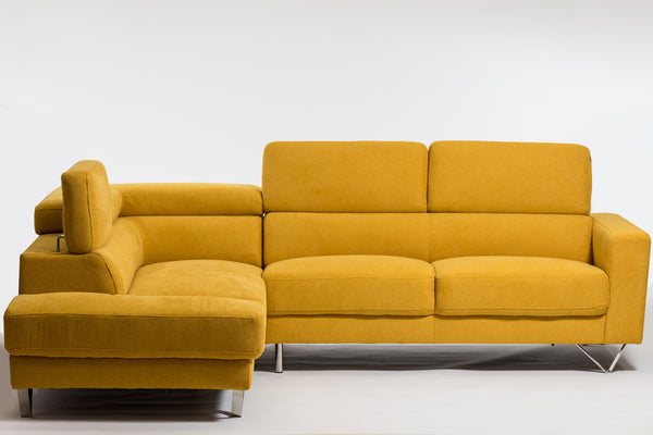Della Chic Left Sectional-Dijon Yellow