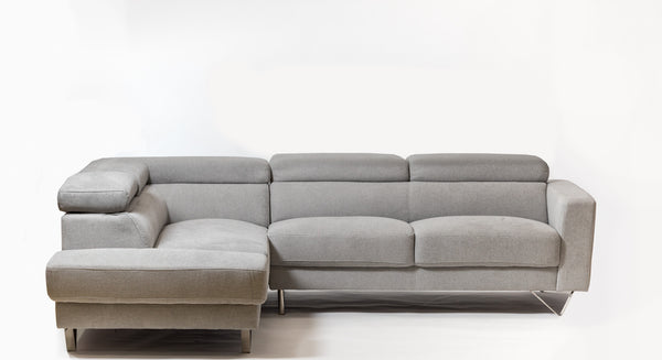 Della Chic Left Sectional-smoke
