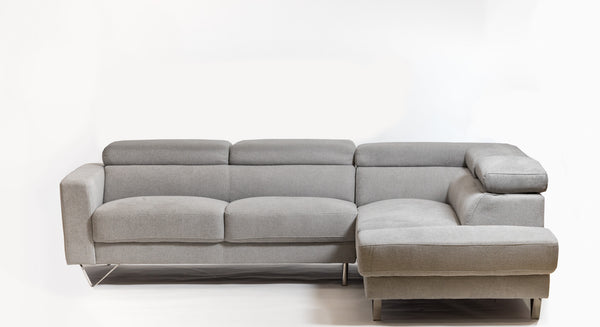 Della Chic Right Sectional- smoke