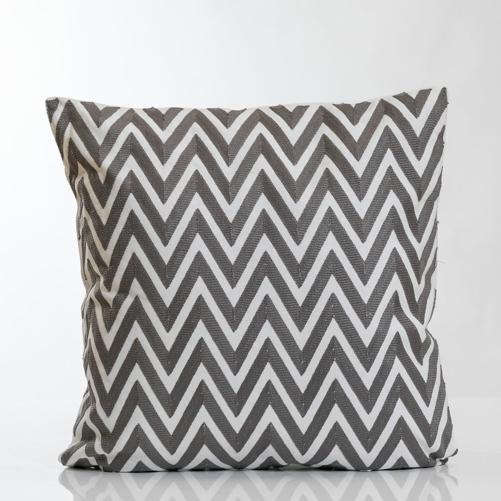 Gray Combination Zig Zag Pillow-Etre Collection