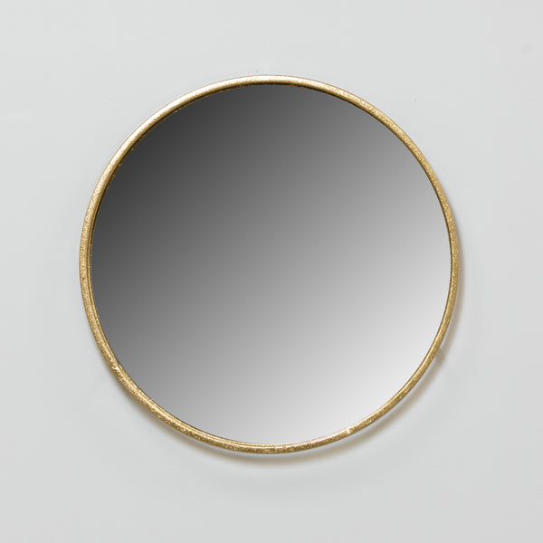 Gold Round Mirror - Metalle Collection