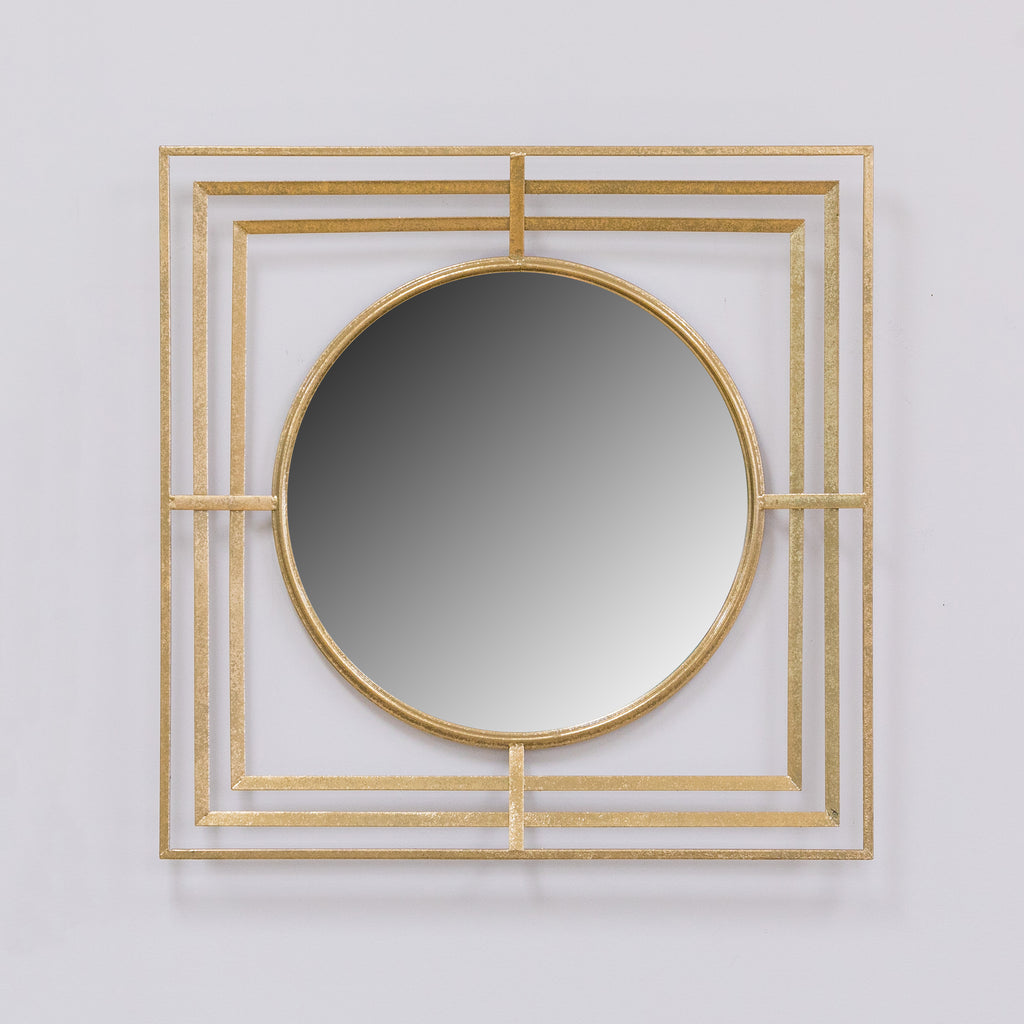Gold Quadro Mirror - Metalle Collection