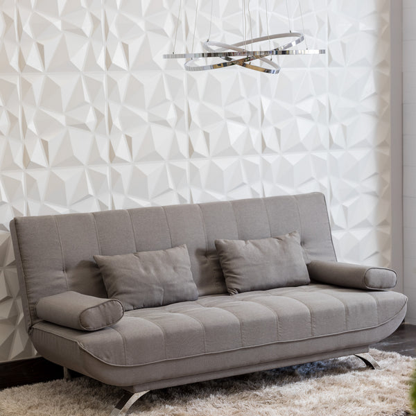 "75"" Unique Sofa Bed (Futón) - New Taupe"
