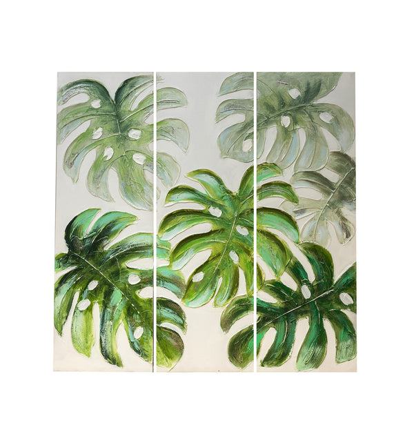 Tropical Leaves Wall Decor (A)-set