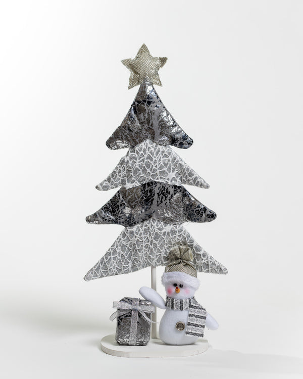 Silver Snowman Christmas Tree Decor
