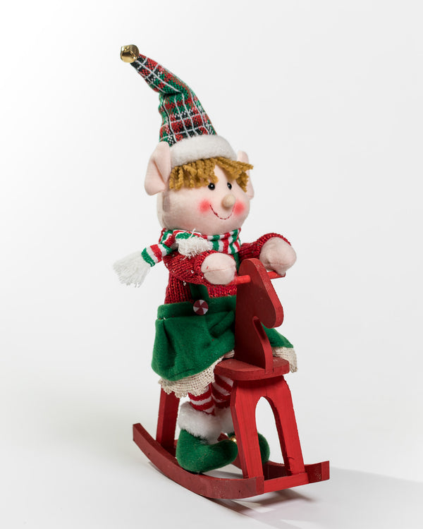 Elf On Wooden Horse