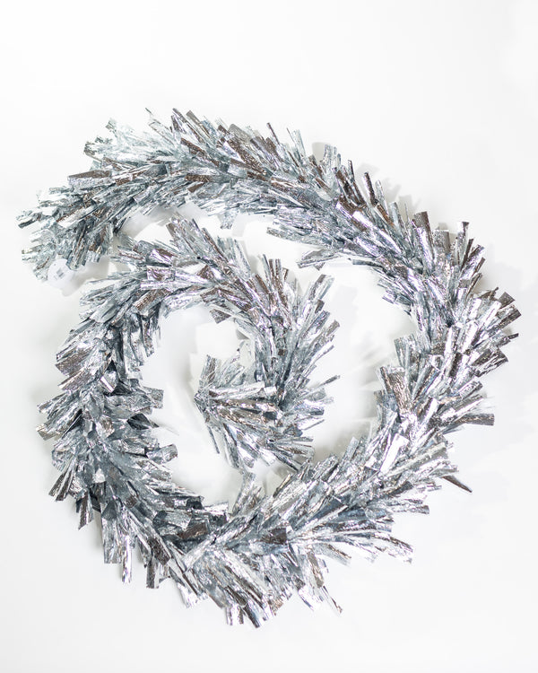 "10""x9"" Metallic Garland - Silver"