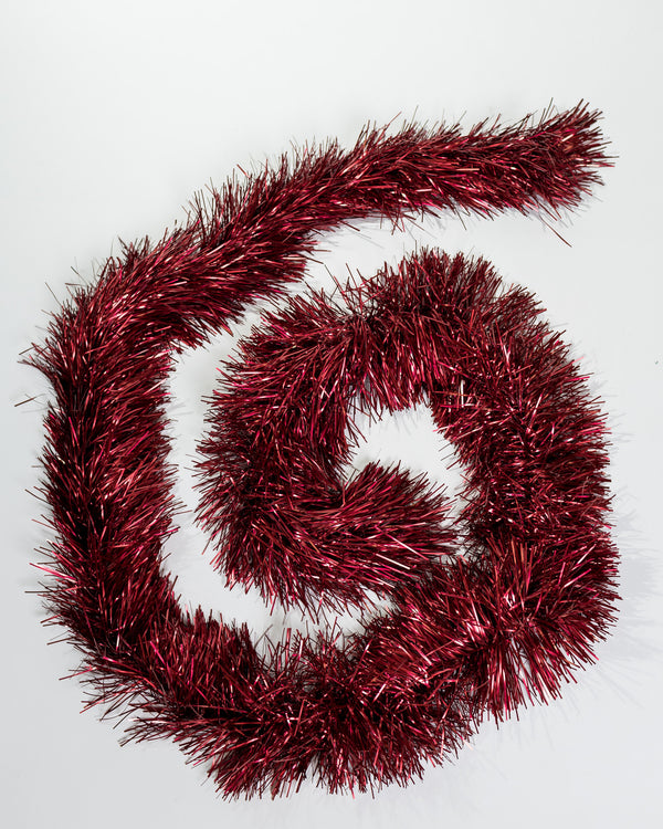 Red Tinsel Garland