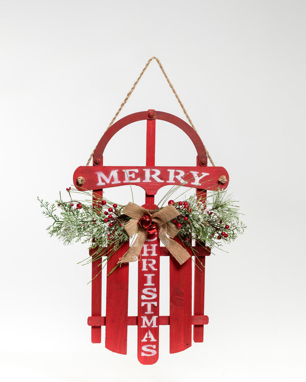 "23"" Red Chritsmas Sled - Vintage Collection"