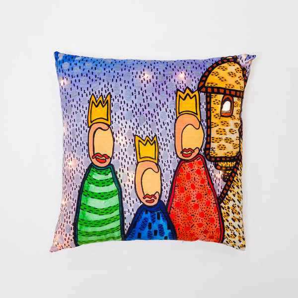 Reyes en el Morro Pillow with LED by Susana Cacho