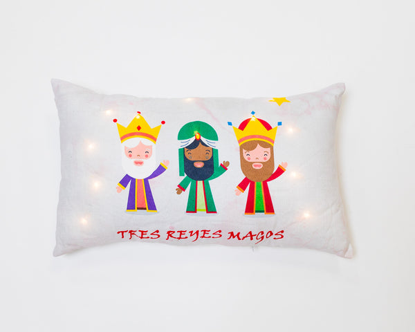 Los Tres Reyes Magos Pillow with LED