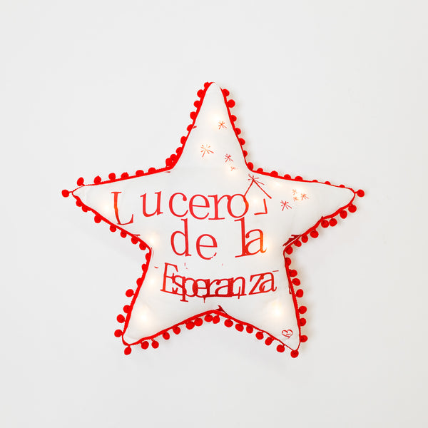 LUCERO Star Pillow with LED by Liz Designs