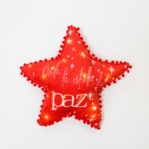 BRILLA Star Pillow with LED by Liz Designs