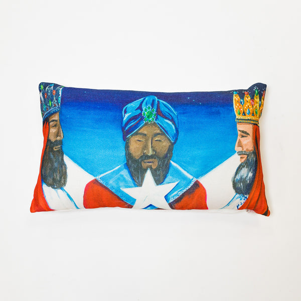 Los Tres Reyes Magos Pillow by Vivi.Kris