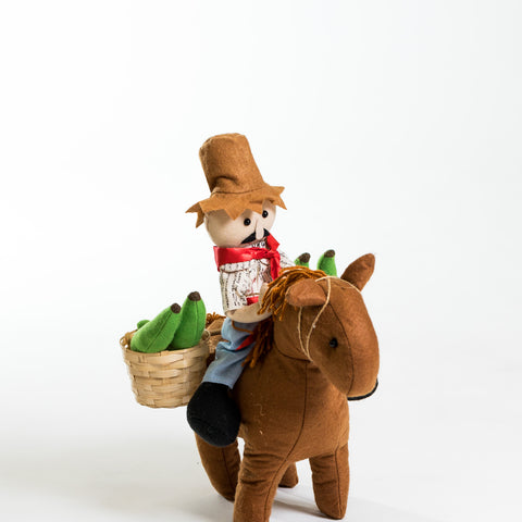 "11"" Jíbaro en Caballo (with Horse)"