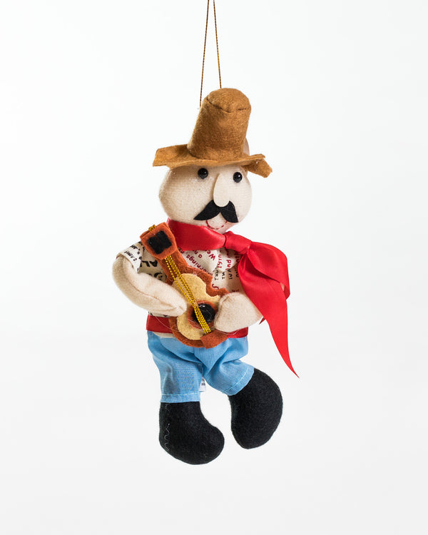 "7"" Jíbaro Playing Cuatro Guitar -Ornament"