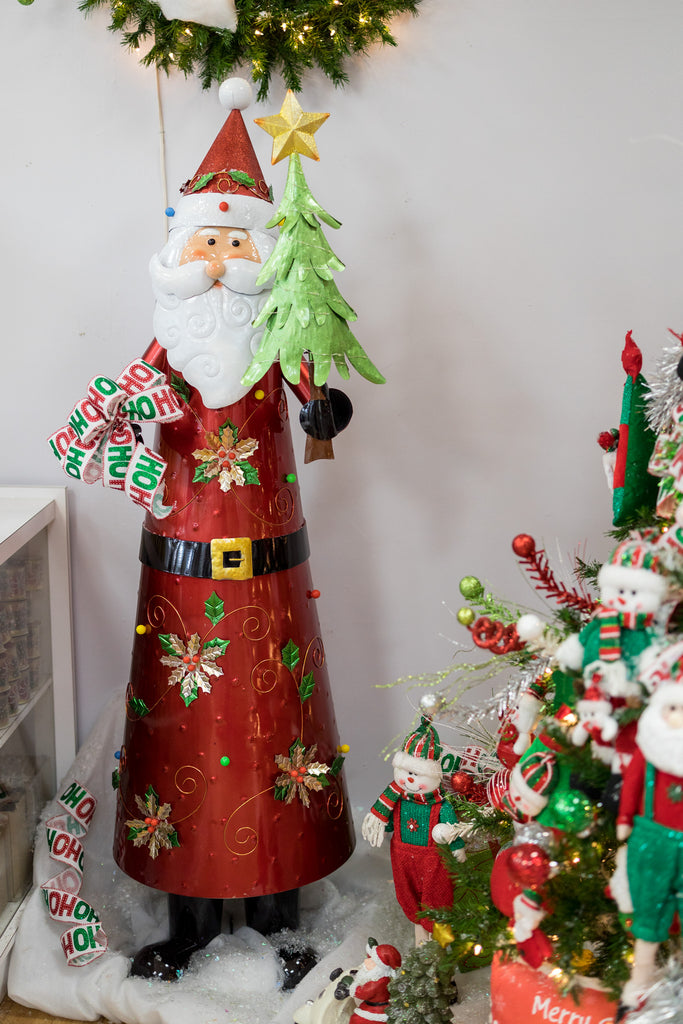 "70"" Santa with Lights (Indoor/Outdoor)- Cheerful Collection"
