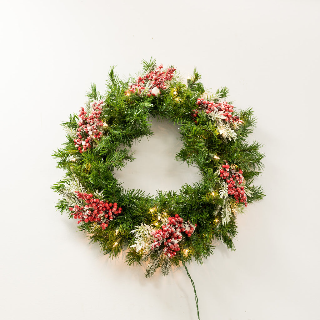 "Copy of 30"" Artificial Pine Wreath- with 50 lites"