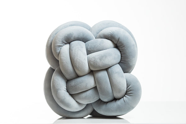 Globular Knot Pillow (Smoke)- Hayden Collection
