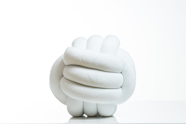 Knot Pillow (White)- Hayden Collection