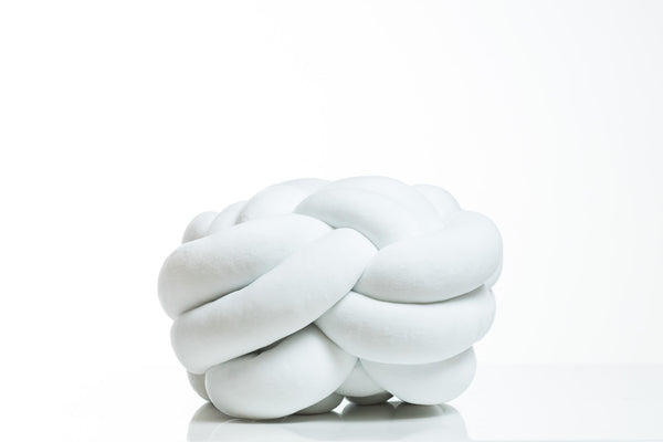 Globular Knot Cushion White- Hayden Collection